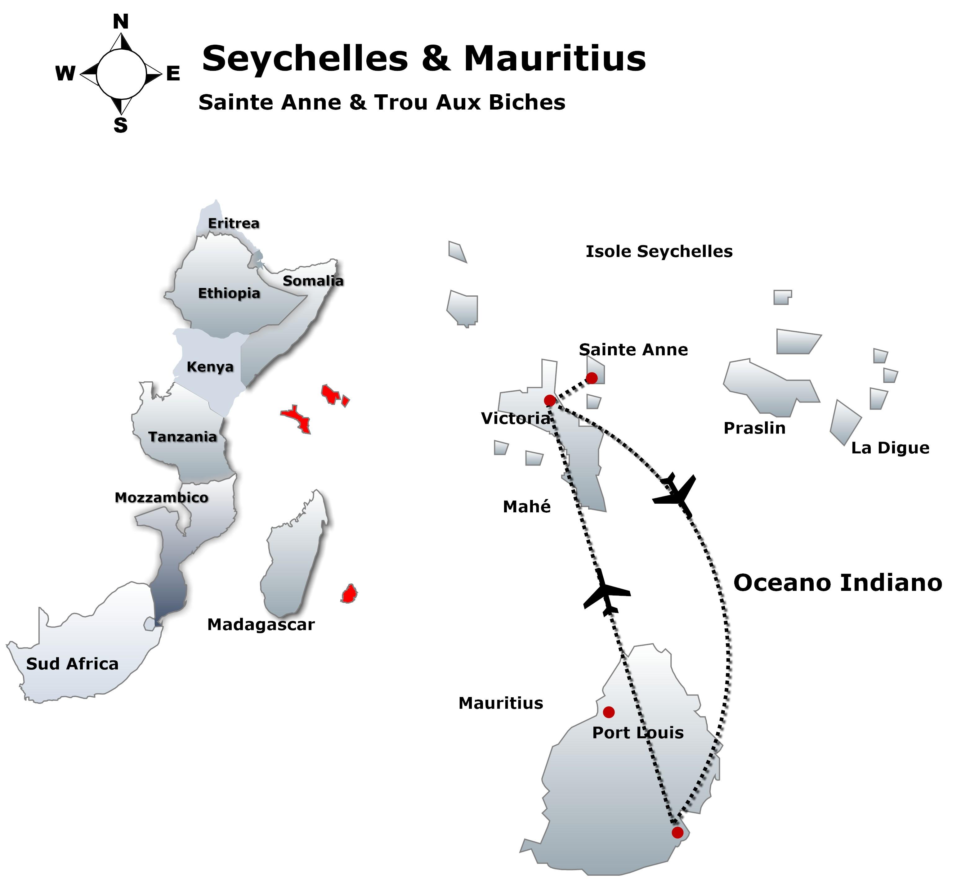 seychelles & mauritius