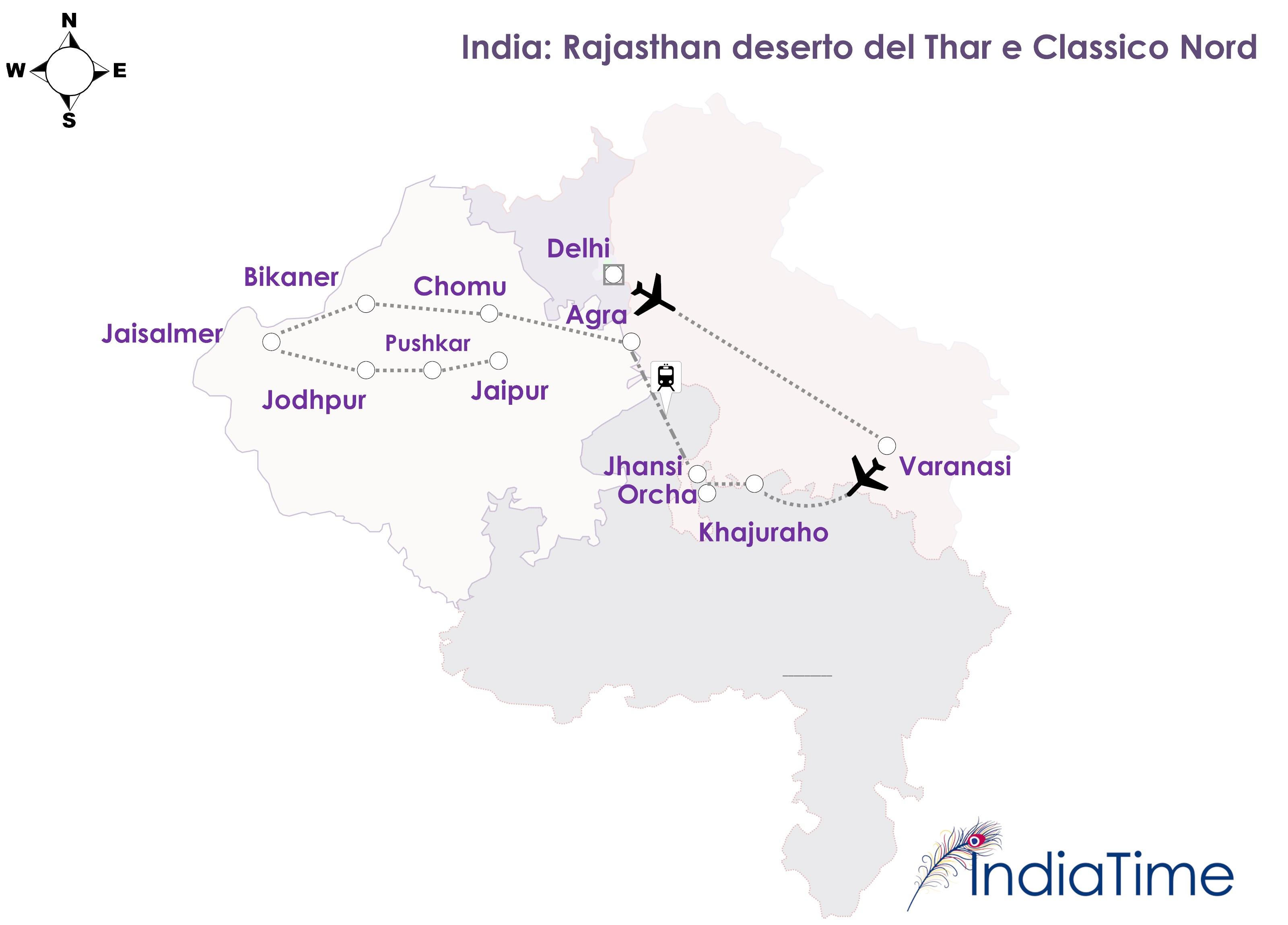 Cartina India Del Nord.India Deserto Del Thar Nord Classico